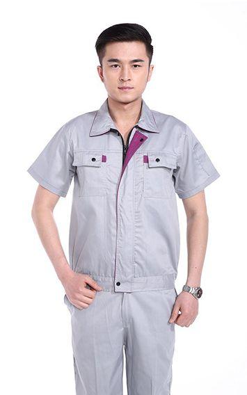灰色防静电短袖工装