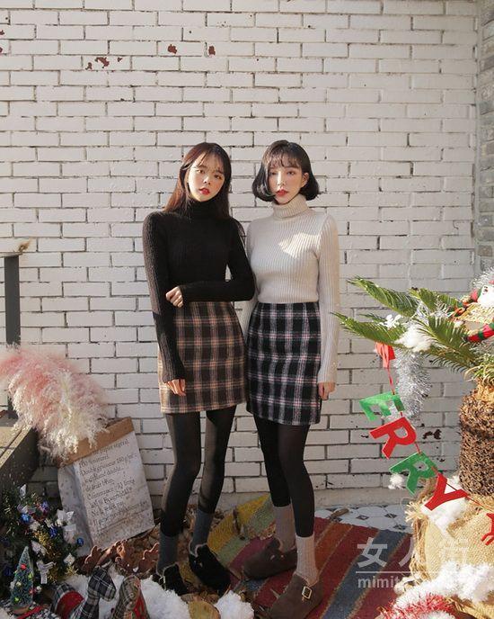 2018时尚格子裙搭配 尽显俏皮少女范儿